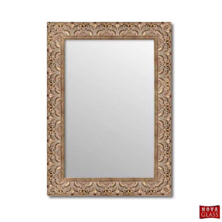 Καθρέπτης τοίχου με χρυσή ξύλινη σκαλιστή κορνίζα Νο 504