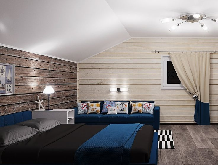 Проект комнаты для 15-летнего молодого человека ⚓⚓⚓ - - #будукапитаномкорабля #спальнядлямальчика #морскойинтерьер