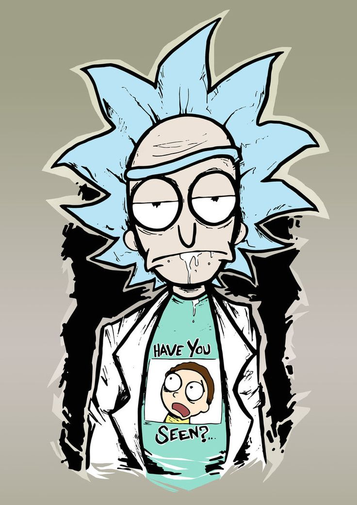 Rick and Morty Print by Destroyyourhead