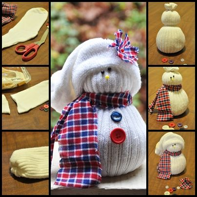 DIY Sock Snowmen ODell I Think We Should Get Together And Make These With The Boys