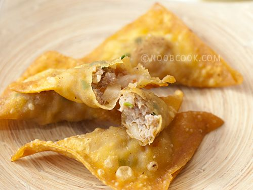 fried wontons all up in yo face!
