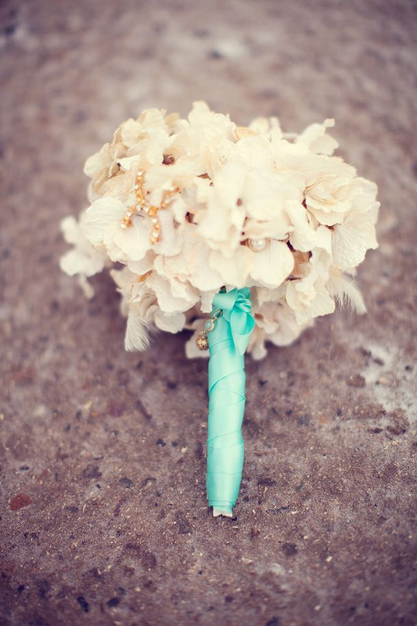 white bouquet teal wrap ribbon: Colors, Maids, Wraps Ribbons, Bouquets Soft, Baby Breath, Bouquets Options, Bouquets Flowing, Lace Wrap, White Bouquets Teal Ribbons