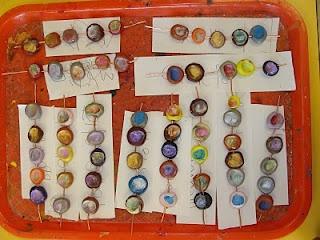 fingerprint beads for kindergarten... mrspicasso's art room