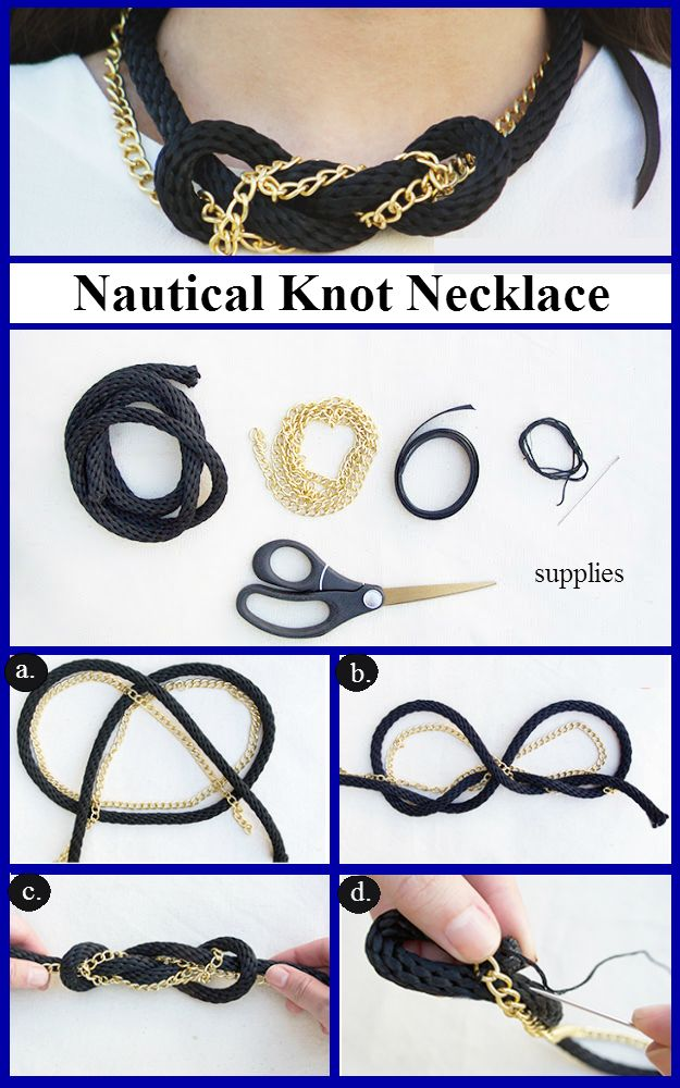95 best nautical crafts ideas images on pinterest craft ideas nautical knot necklace diy ideas 4 home solutioingenieria Image collections