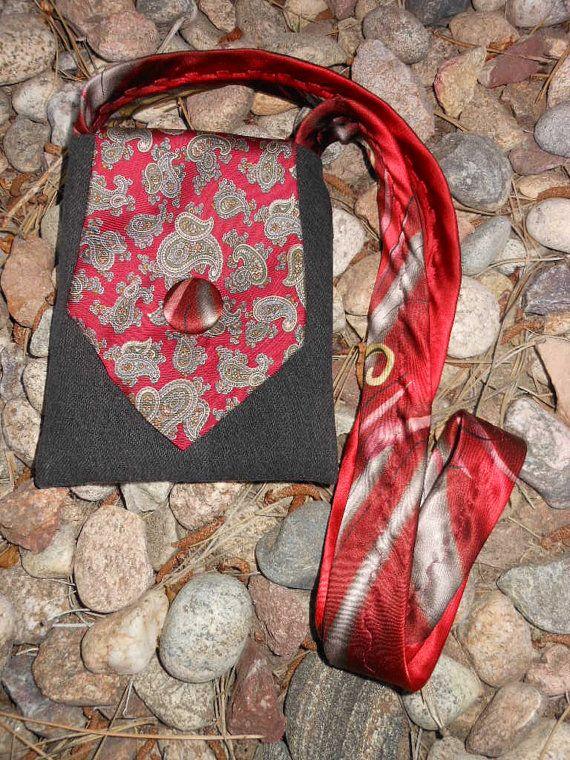 Corbata de reciclado bolsa Boho bohemio por SomeKindahWonderful