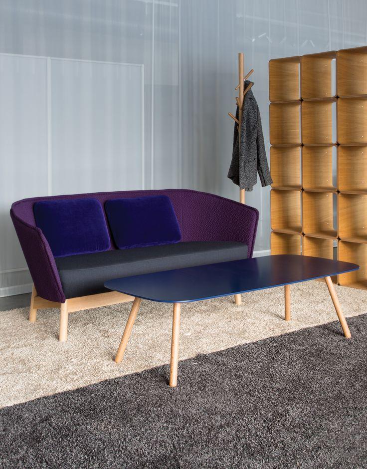 Bondo Wood table (design Harri Korhonen) & Aura Wood sofa and Naula coat rack (design Mikko Laakkonen)