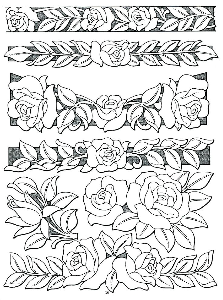 Flower Leather Patterns Printable