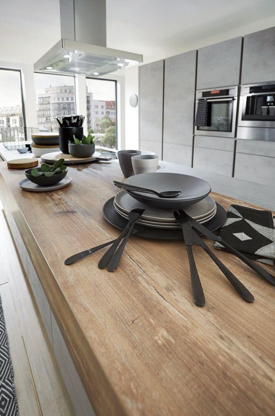 Die besten 25+ Holzarbeitsplatte Ideen auf Pinterest Küche l - k che aus beton selbst bauen