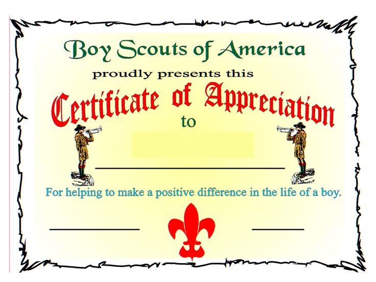 stem certificate template by bsa certificate of appreciation boy scout certificate of - Stem Certificate Template