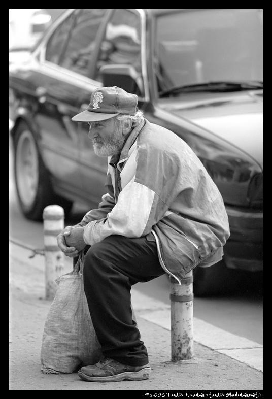 Old man in Bucharest, Romania