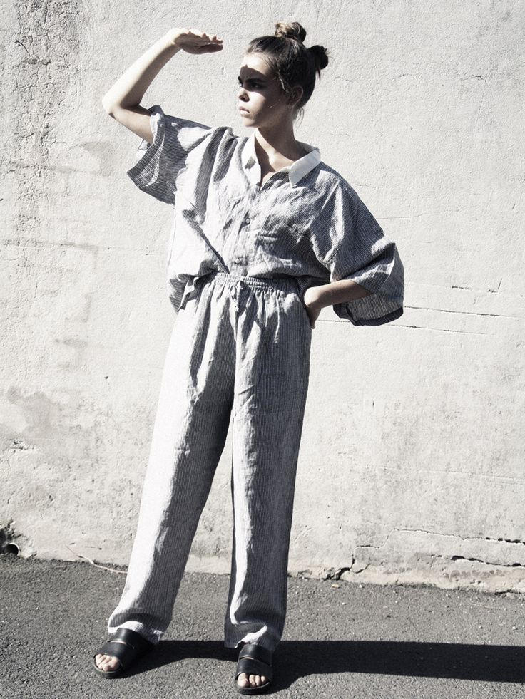 CT muse Bee Beardsworth shot by Cloudy Rhodes. Hair + Makeup : Constance Bowles Featuring the Celeste Tesoriero 'Freemans Reach' and linen 'loungewear' collection, as well as Stella McCartney, Calvin Klein and vintage pieces.  www.celestetesoriero.com