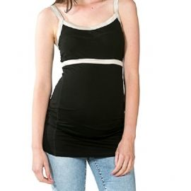 Heerlijke zwangerschapstop van love2wait, ideaal voor een zomerse dag, of ergens onder. De top is lekker lang, dus past zeer goed over je groeiende buik heen.  Ook ideaal voor de nacht evt. En ook NA de zwangerschap goed te dragen