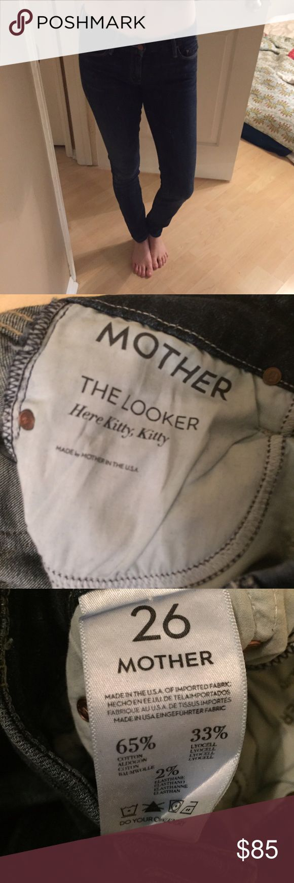 Mother dark denim jeans Mother jeans. Stretchy dark denim. No flaws and super comfortable! No trades. MOTHER Pants Skinny