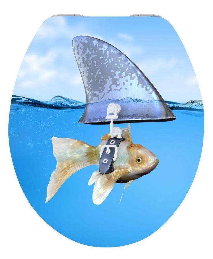 Wenko LUXUS WC-Sitz Hochglanz Acryl Sweet Shark mit Absenkautomatik