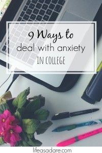 Dealing with college stress can be difficult, and we all experience anxiety at one time or another. Here are some tips to help you deal with your anxiety in a healthy way and not let the college stress overtake you. Be encouraged!
