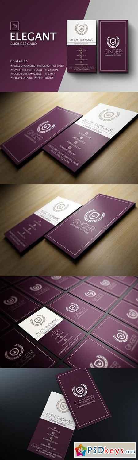 Elegant Business Card 831773