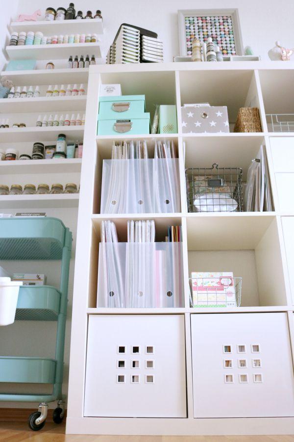 Scrapbookingpapier Aufbewahrung MUJI Ordnerkiste