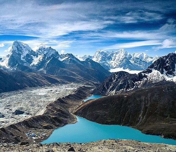 Gokyo Lakes in the Himalayas in Nepal