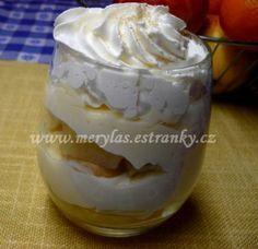 Vaření s Merylas - Zmrzliny, sorbety a různé poháry. - Různé poháry - Tvarohovo-pudinkový pohár s ananasem a šlehačkou