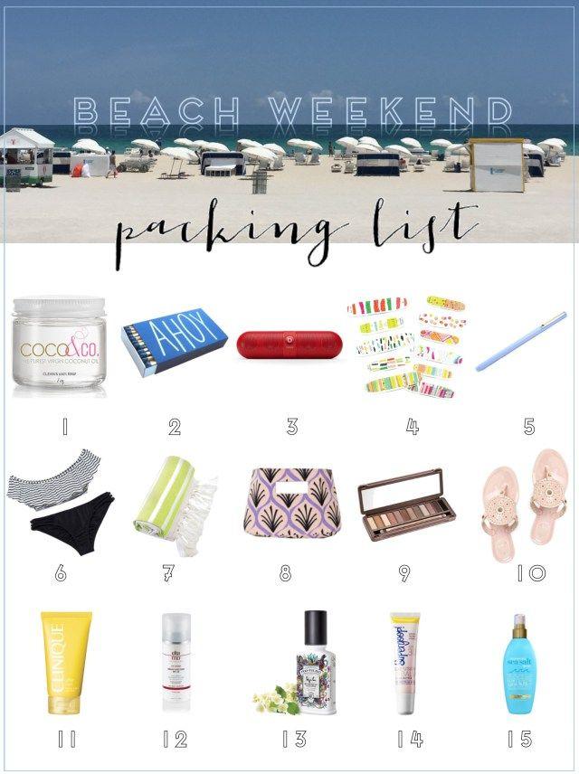 Gin & Jewels | Beach Weekend Packing List