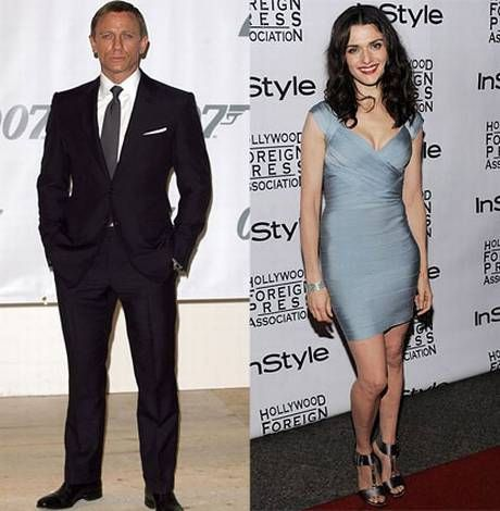 Daniel Craig, Tomb Raider, James Bond; Rachael Weisz, The Mummy, Constantine; married couple; Awesome!