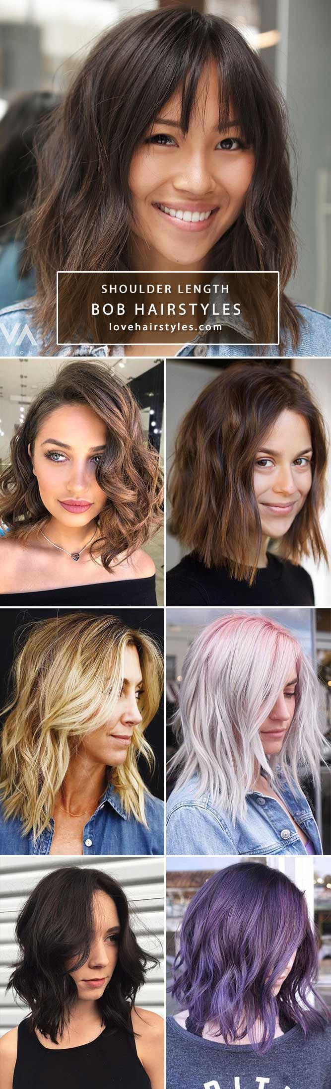❤️ Explore the shoulder length bob hairstyles for thin and thick hair! Looking for a nice haircut with fringe? Best bob hairstyles with bangs are