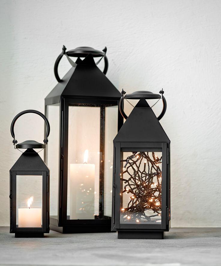 Tænd lys i mørket med de elegante veneto lanterner fra Herstal. #inspirationdk #inspiration #jul #juledekoration #christmas #Herstal #veneto