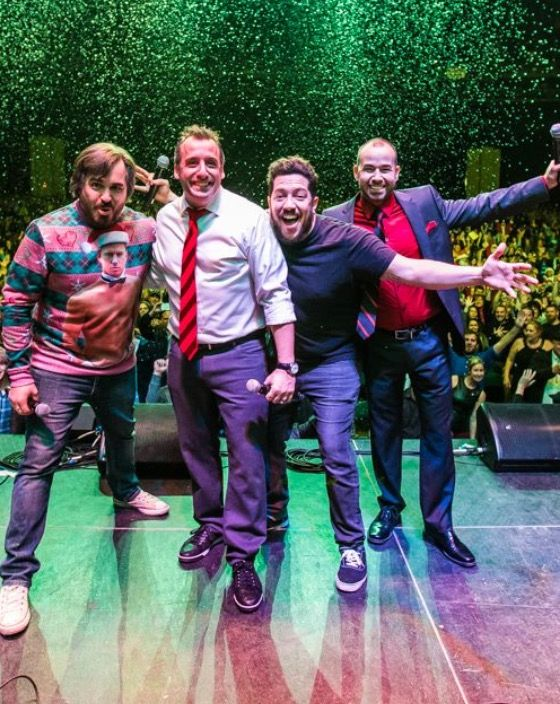Impractical jokers Christmas party on stage ♥️