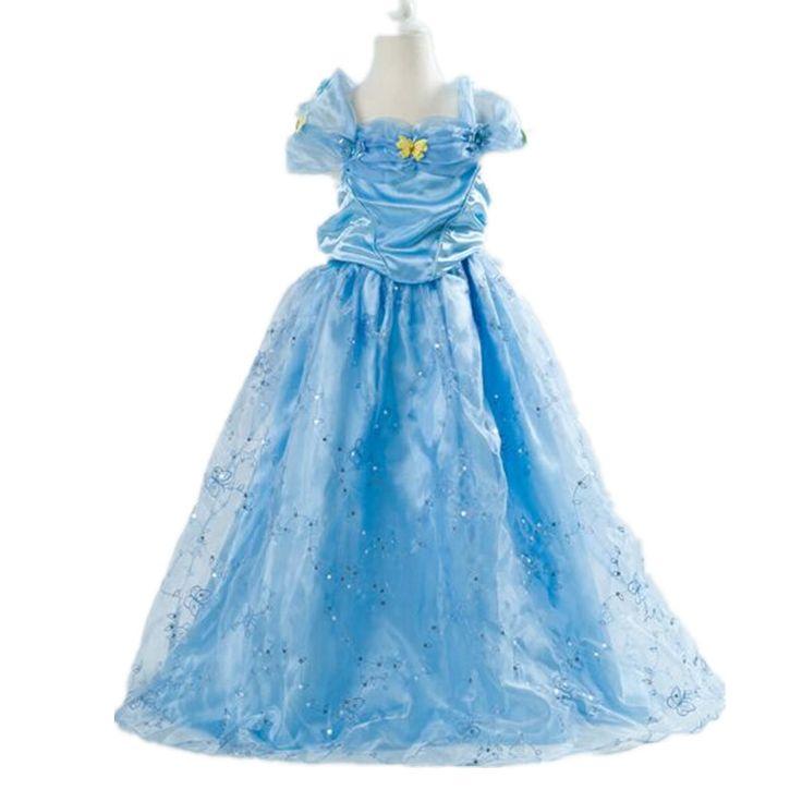 Купить товар2015New золушка девушка дети девочки голубая бабочка ну вечеринку принцессы золушка косплей костюм платья в категории Платьяна AliExpress.                                      Здесь есть много же пункте, может быть эт