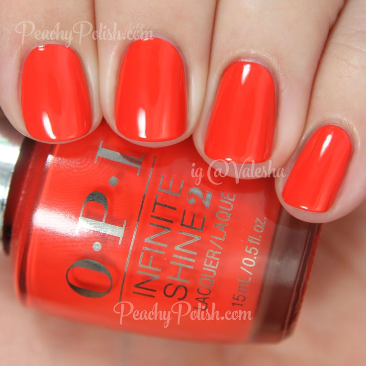 OPI No Stopping Me Now | Infinite Shine Collection | Peachy Polish #red/orange