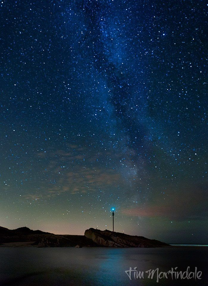 The Milky Way over Barrel Rock (Bude, Cornwall) at 23:30 14th September 2012).