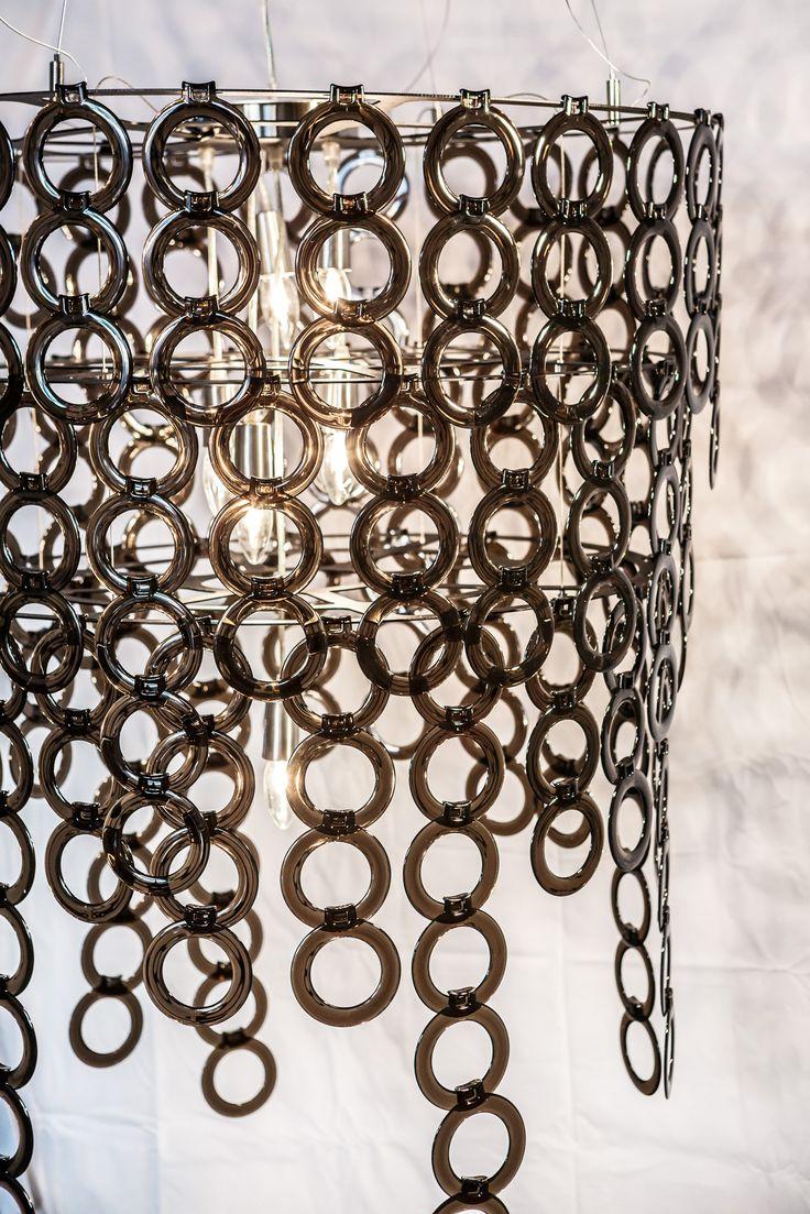 Dramatic chandelier - charcoal Surilight
