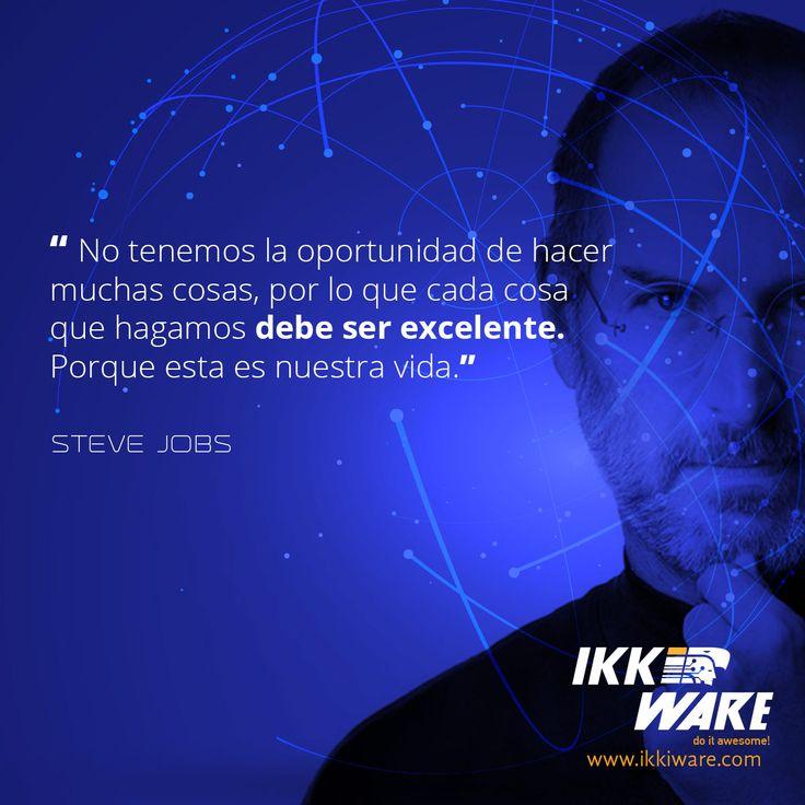 Frases de Steve Jobs #Frases #Excelencia #SteveJobs #Vida #ideas #motivacion #trabajo