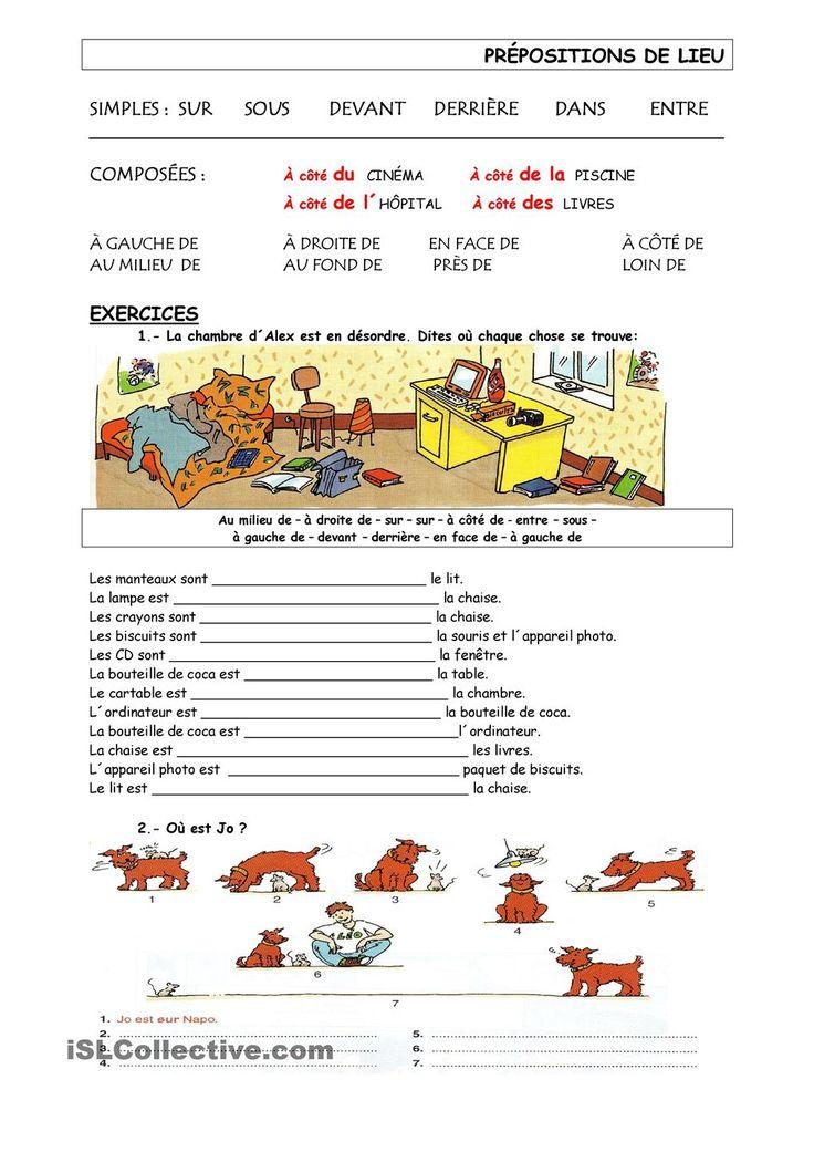 les prépositions de lieu 2 | GRATUIT FLE fiches pédagogiques