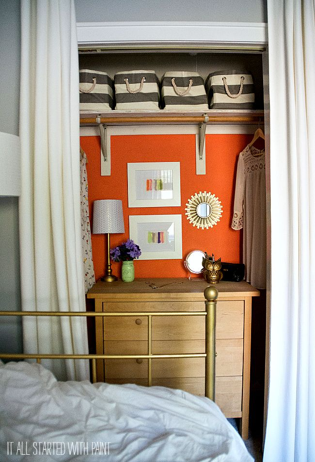 A Pop Of Color. Small Closet ...