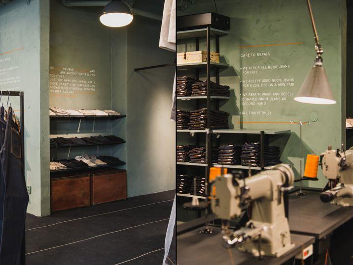 Nudie Jeans Repair Shop, Stockholm – Sweden » Retail Design Blog