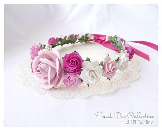 Floral Blossom Flower Crown-floral crown, flower, crown, floral halo