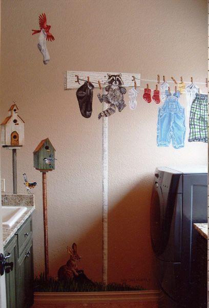 Laundry room mural