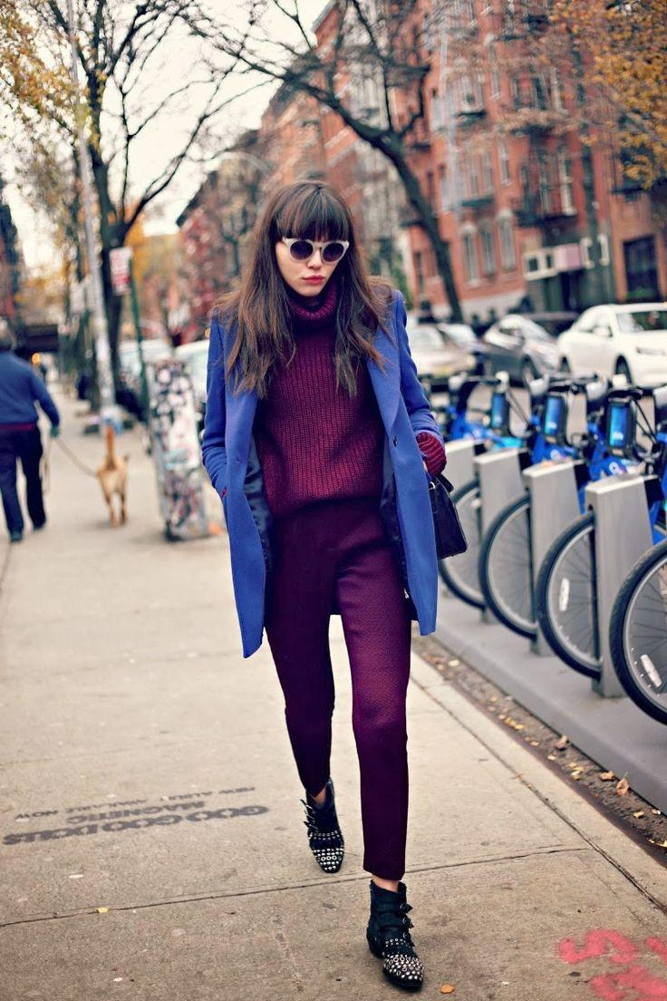 Natalie Off Duty: REISS LONDON// BLUE & BURGUNDY