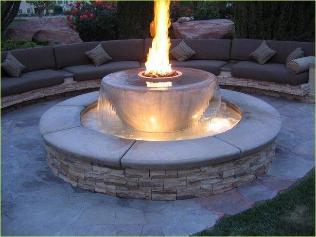 40 Stunning Diy Fire And Water Fountain Ideas Fountaindiy Outdoor Fire Pit Designs Outdoor Fire Pit Fire Pit