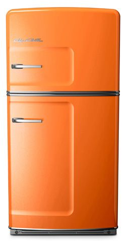 One day....one day retro fridge, you will be mine.  Big Chill rocks. ~ Not sure about the color, but I LOVE the style...