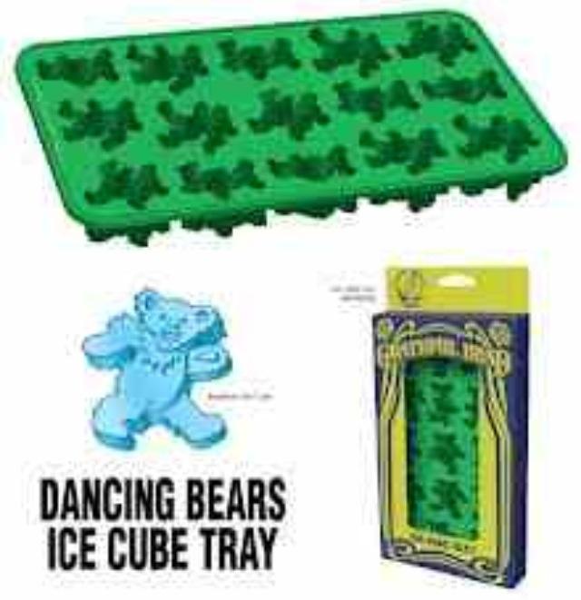 Grateful dead bear ice cubes!