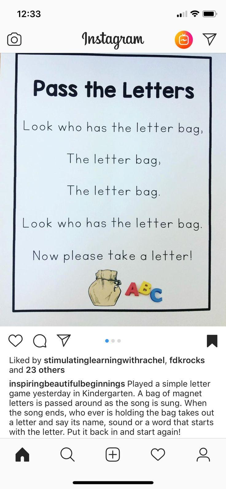 Letter bag game for preschool education. STEM LITERACY ...