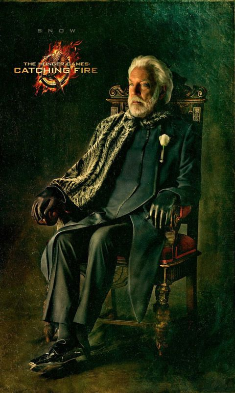 The tribute of panem - catching fire - Donald Sutherland as Präsident Snow