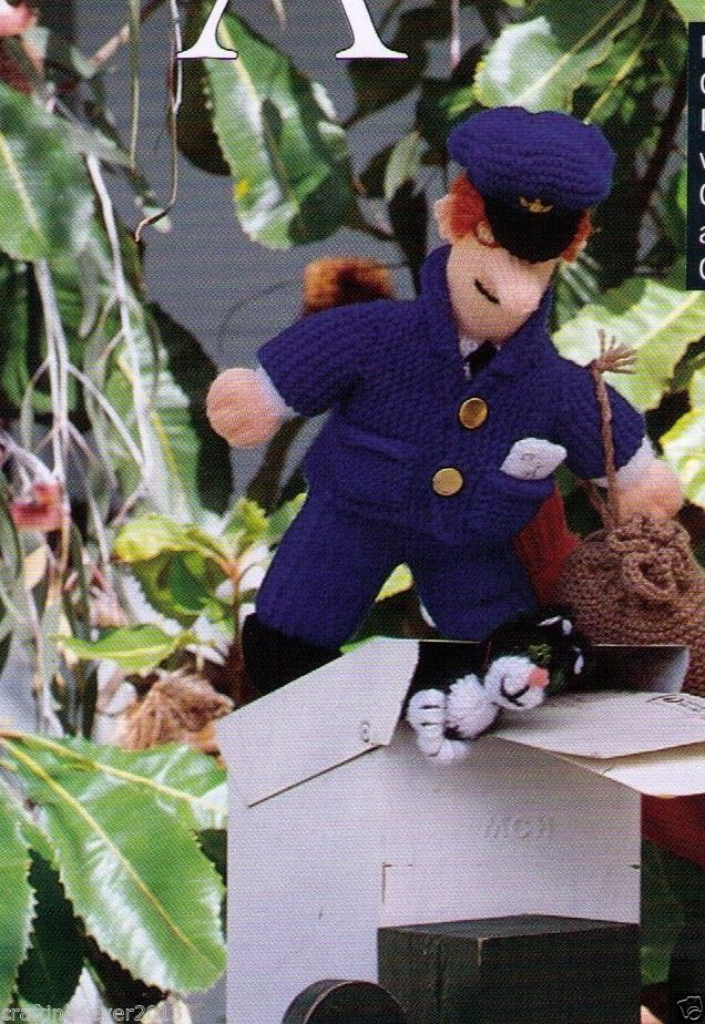 Knitting Pattern For Jess The Cat : Vintage tv show postman pat & jess the cat toys 50cms tall 8ply knitt?