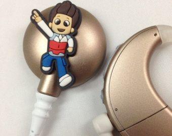 Buis / Coil charme voor gehoorapparaten / van EarSuspenders op Etsy