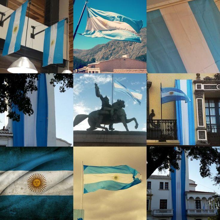 Bandera Argentina. Flameando  a lo largo y ancho del país. 🇦🇷