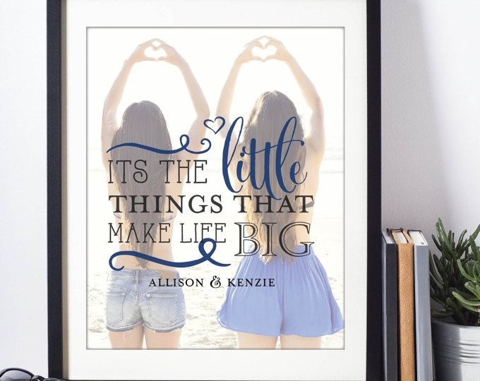 """sorority girl presents. Big & Little Sorority Girl Gifts. """"Its the little things that make life big' Quotes for you Big or Little"""