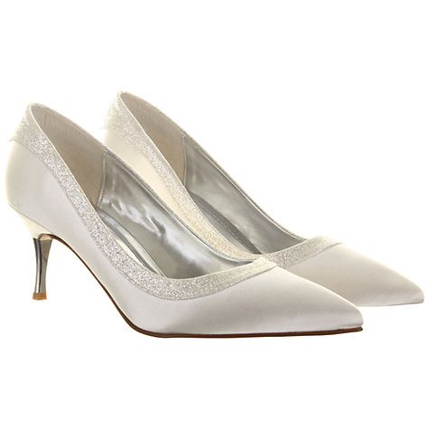 Rainbow Club Maddie Satin Court Shoes, Ivory