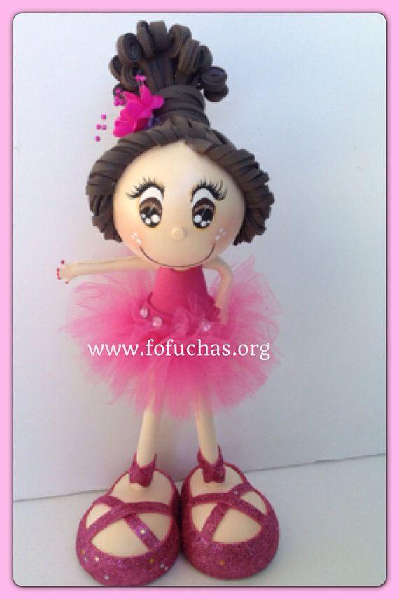 Ballerina 3d Fofucha Crafty Foam Doll on Etsy, $28.50 available #ballerina #fofuchas #crafts